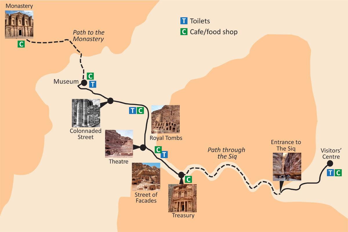 Map of Petra Jordan