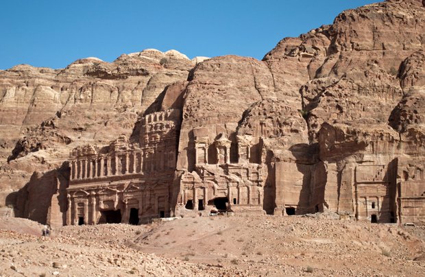 The Royal Tombs in Petra, Jordan