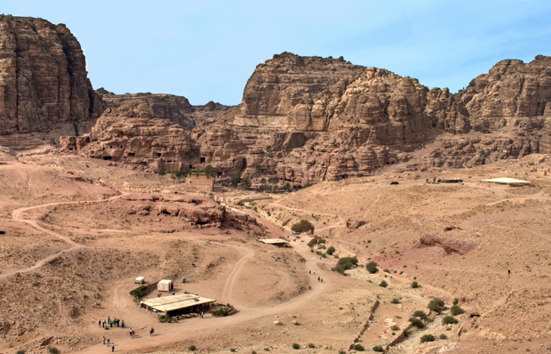 View from the Royal Tombs across Petra, Jordan