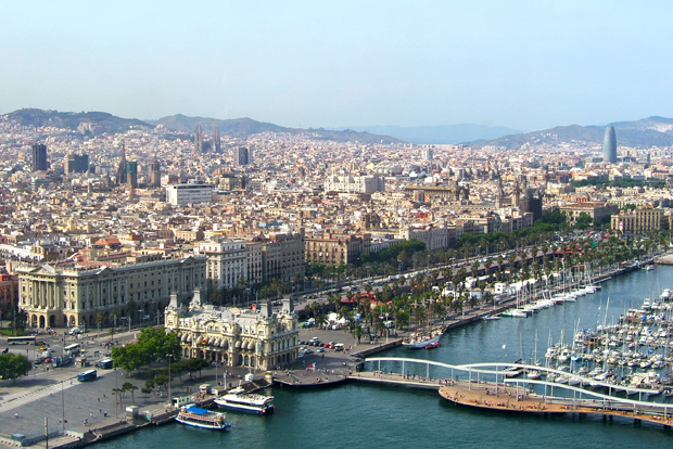 View from the port to Montjuïc cable car, Barcelona