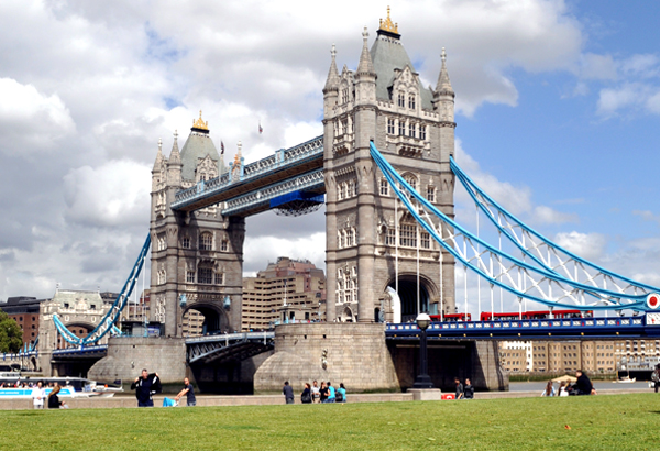 Tower Bridge across the Thames, London