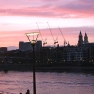 The Thames at dusk, London