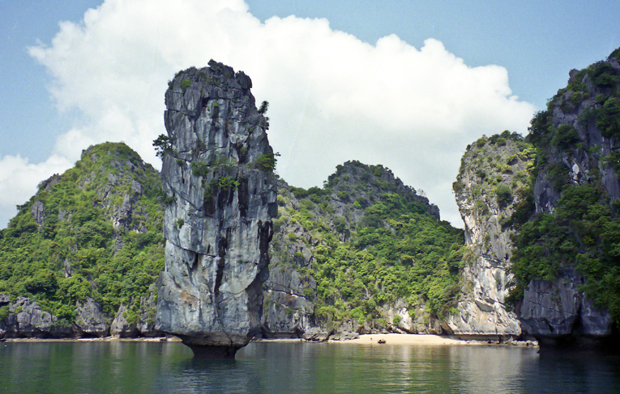 Sailing around Halong Bay in Vietnam