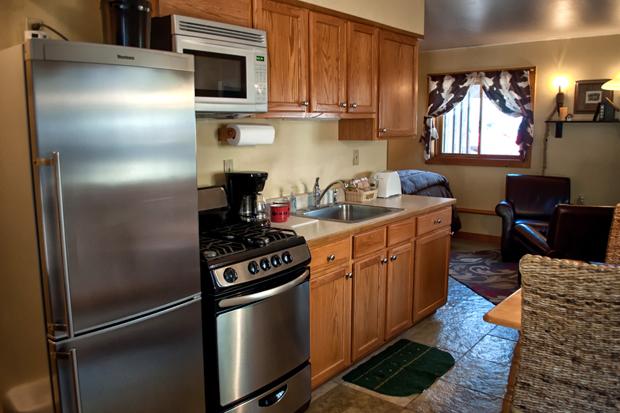 Kitchen at O Bar O Ba Cabins near Durango, Colorado