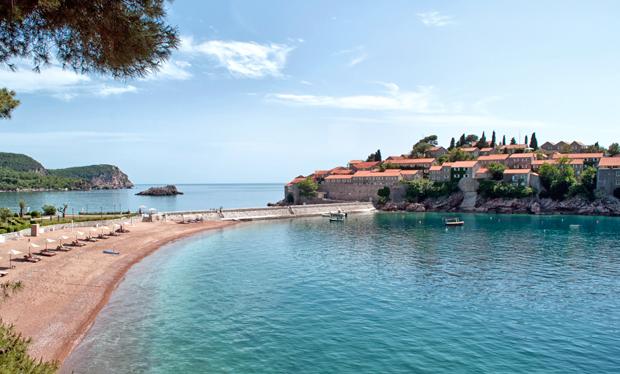 Island of Sveti Stefan on the Montenegro coast