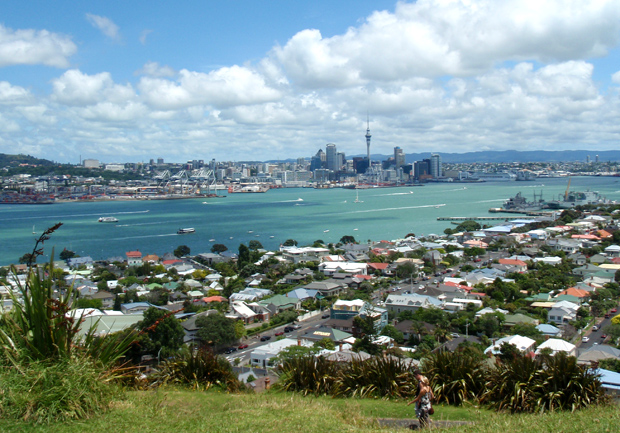 Looking over Auckland