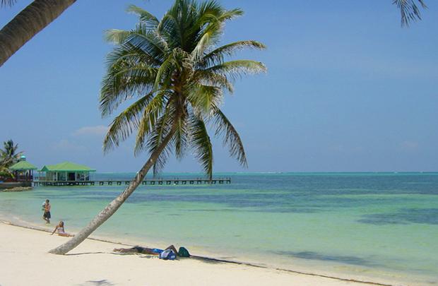 Beach in Belize, central America
