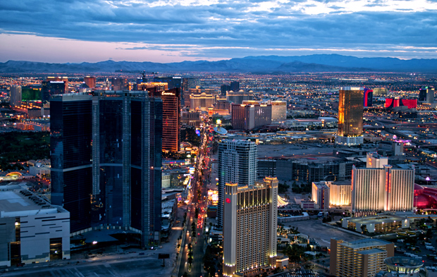 The Las Vegas Strip from the top of The Stratosphere