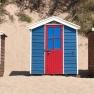 Beach huts on Saunton Sands, Devon, UK