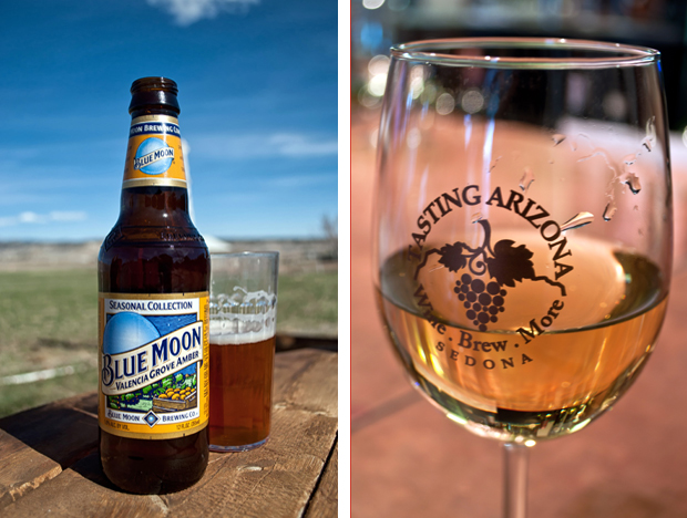 Local beer and wine in the southwest USA
