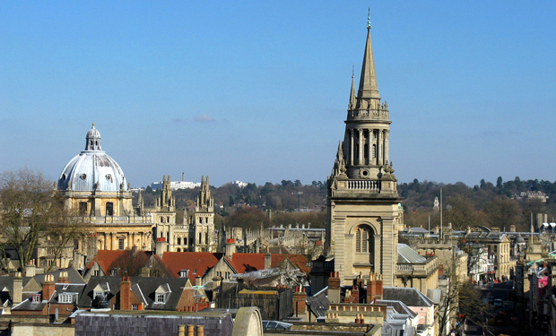 View from the Carfax Tower across Oxford, England