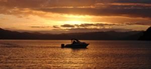 Lake Waikaromoana sunset