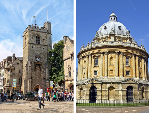 Carfax Tower and Radcliffe Camera, Oxford, England