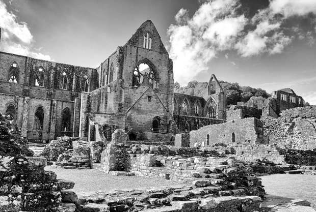 Tintern Abbey in Monmouthshire, Wales