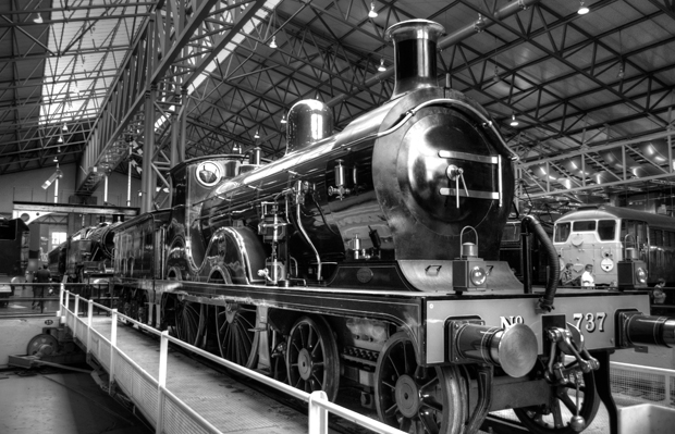 Trains in York's Railway Museum