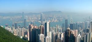 Panoramic view of Hong Kong from the Peak