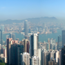 Panoramic view of Hong Kong from the Peak
