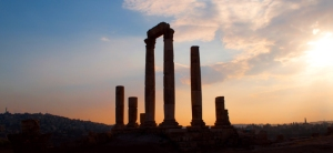 Amman Citadel at sunset, Jordan