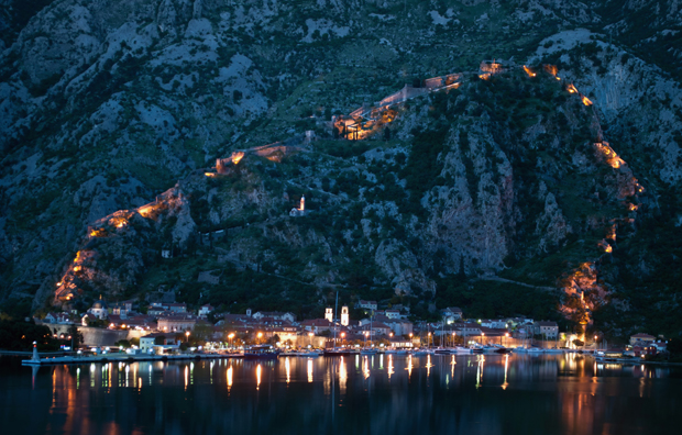 The city walls of Kotor, Montenegro
