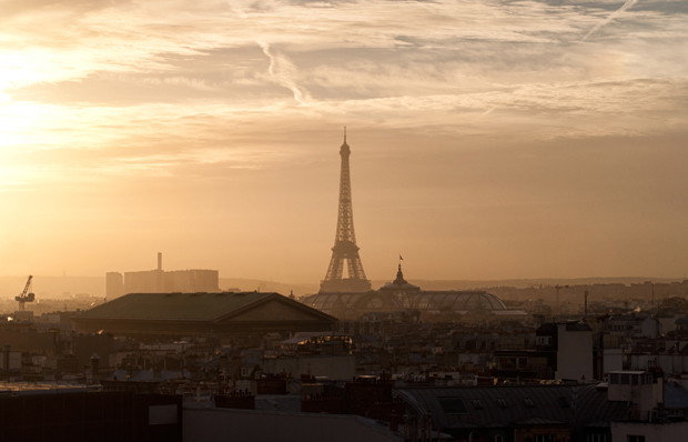 Galeries Lafayette rooftop Eiffel Tower view