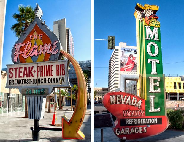 Vintage neon signs in Las Vegas, USA
