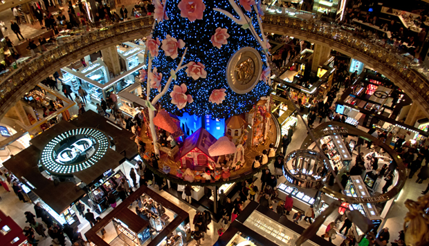 Galeries Lafayette Christmas decorations, Paris