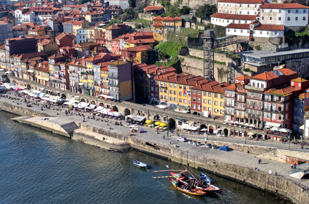 Looking down on Porto from the Dom Luis Bridge