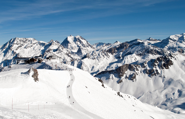 The Three Valleys ski area in France