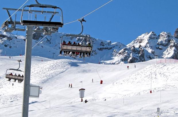 Courcheval, Three Valleys ski aea, French Alps