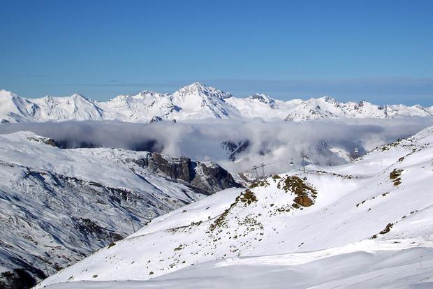 Les Meniures, Three Valleys ski aea, French Alps
