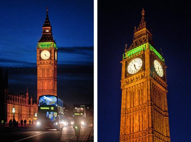 Big Ben, London's South Bank at dusk