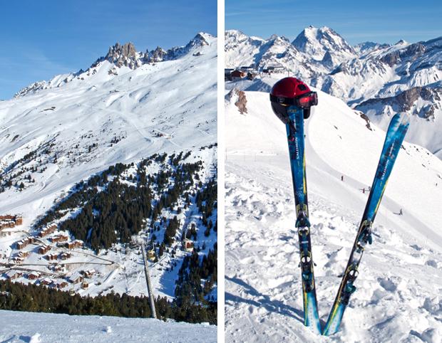 Three Valleys ski aea, French Alps