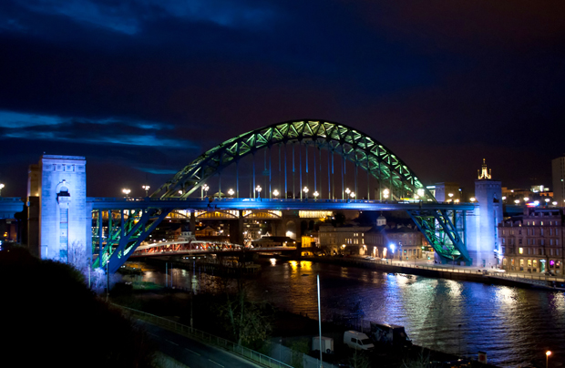 Bridges across the Tyne in Newcastle Gateshead