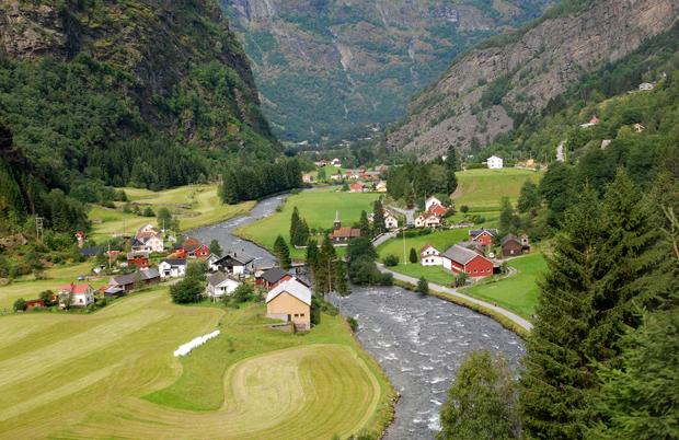 Myrdal to Flam railway, Norwegian fjords