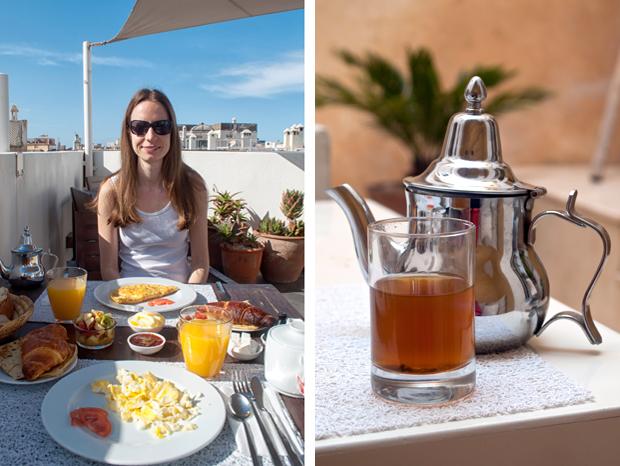 Breakfast at Riad Dar Maya, Essaouira, Morocco