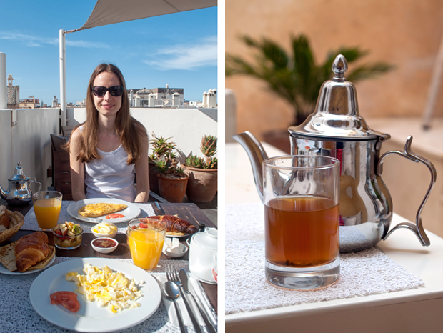 Breakfast at Riad Dar Maya, Essaouira, Morocco