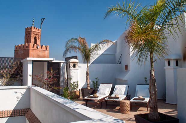 Roof terrace at Riad Capaldi , Marrakech