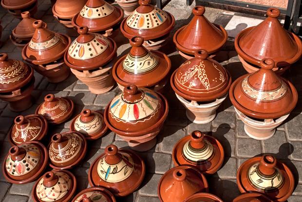 Tagines in the Marrakch souks, Morocco