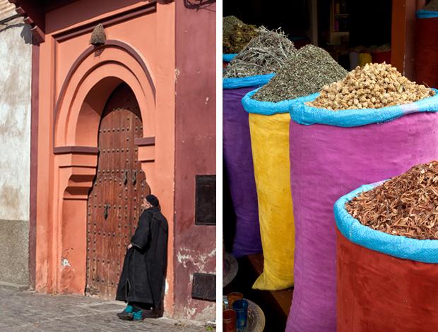 Souks in the medina in Marrakech, Morocco