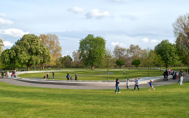 The Princess Diana fountain, Hyde Park, London