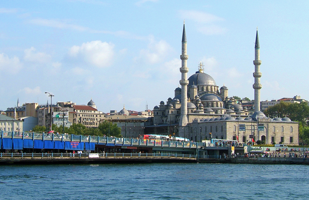 The Galata Bridge and Blue Mosque, Istanbul