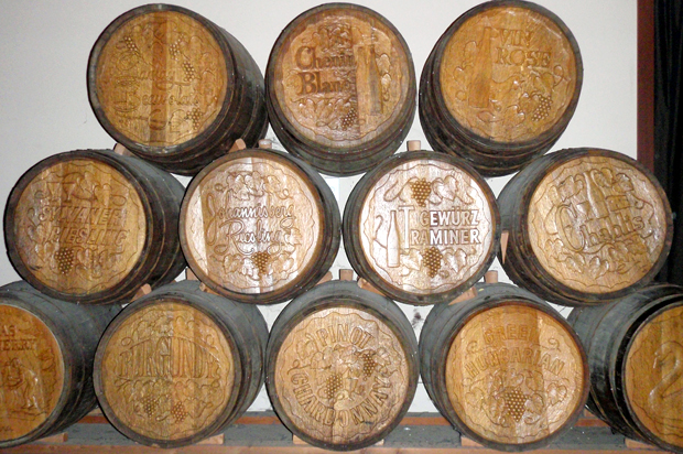 Wine barrels in Sonoma, California