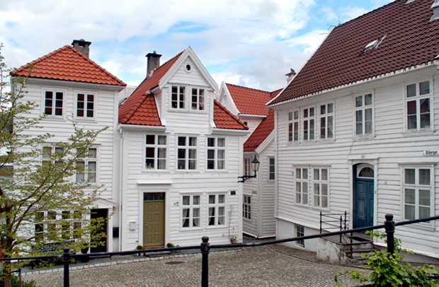 Timber houses in Bergen, Norway