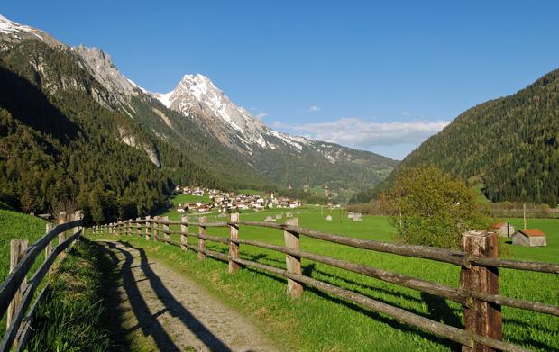 Mountains in St Anton am Alberg, Austria