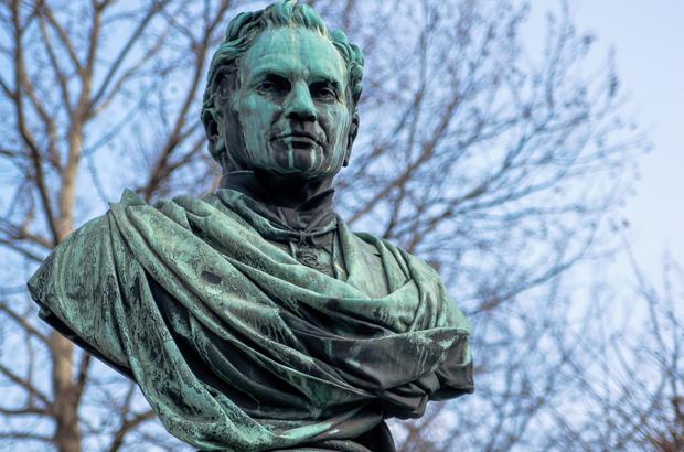 Mozart statue in Vienna, Austria