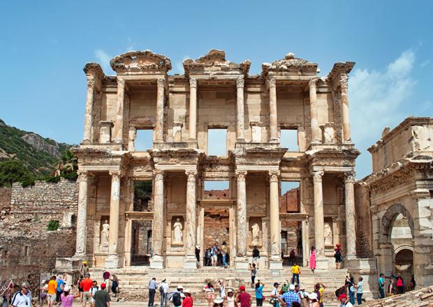 The ruins of Ephesus in Turkey