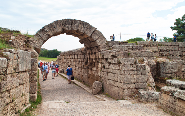 Olympic stadium at Olympia archaeological site, Greece