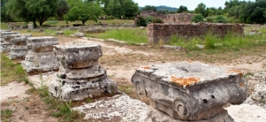Ruins of Olympia in Katakolon Greece