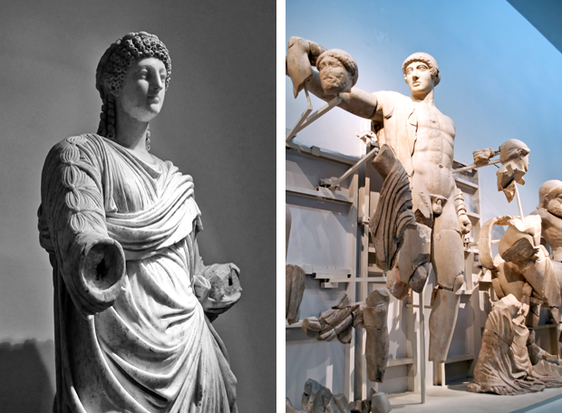 Statues at the Olympia Archaelogical Museum, Greece