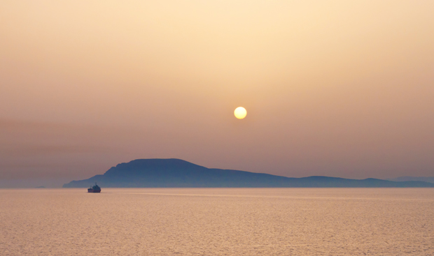 Greek islands sunset